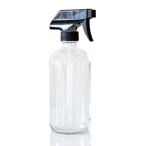 Refillable cleaning glass
