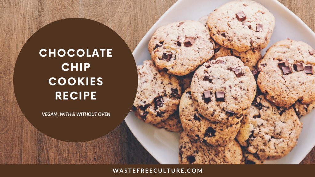 Chocolate chip cookies recipe - Vegan No Oven